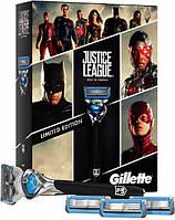Подарочный набор Лига Справедливости Gillette Fusion Proshield Chill со сменными кассетами 4 шт