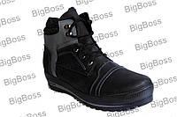 Мужские зимние ботинки больших размеров Б-1 сер