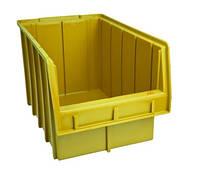 Лоток пластиковый (350х210х200 мм) для метизов желтый