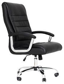 Кресло Принстон Хром, Кожзам Черный (Richman ТМ)