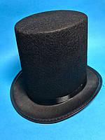 Карнавальный Головной Убор Шляпа Цилиндр Высокий Черный Цвет