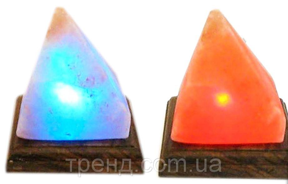 Соляная лампа Пирамида из гималайской соли