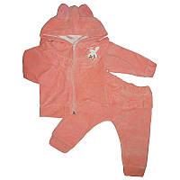 Костюм для девочек велюр 74-86  кофта+штаны арт.2051