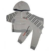 Костюм для мальчика на байке 3-6 лет 98-116 кофта+штаны  арт.3001