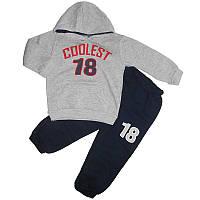Костюм для мальчика на байке 4-6лет кофта+штаны  арт.10141