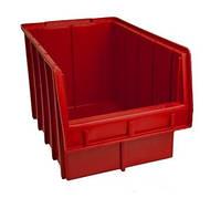 Лоток пластиковый (350х210х200 мм) для метизов красный