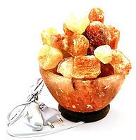 Соляная лампа Чаша огня из гималайской соли