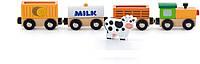 Набор аксессуаров для железной дороги Viga Toys Поезд-ферма (50821)