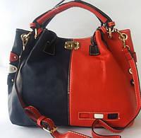"""Модная женская сумка красно - синего цвета реплика """"Tommy Hilfiger"""""""