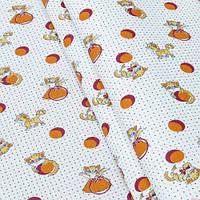 Ткань детская 143996 Ситец (Т-К) рис.5503-- ОРАНЖЕВАЯ 95СМ
