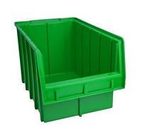 Лоток пластиковый (350х210х200 мм) для метизов зеленый