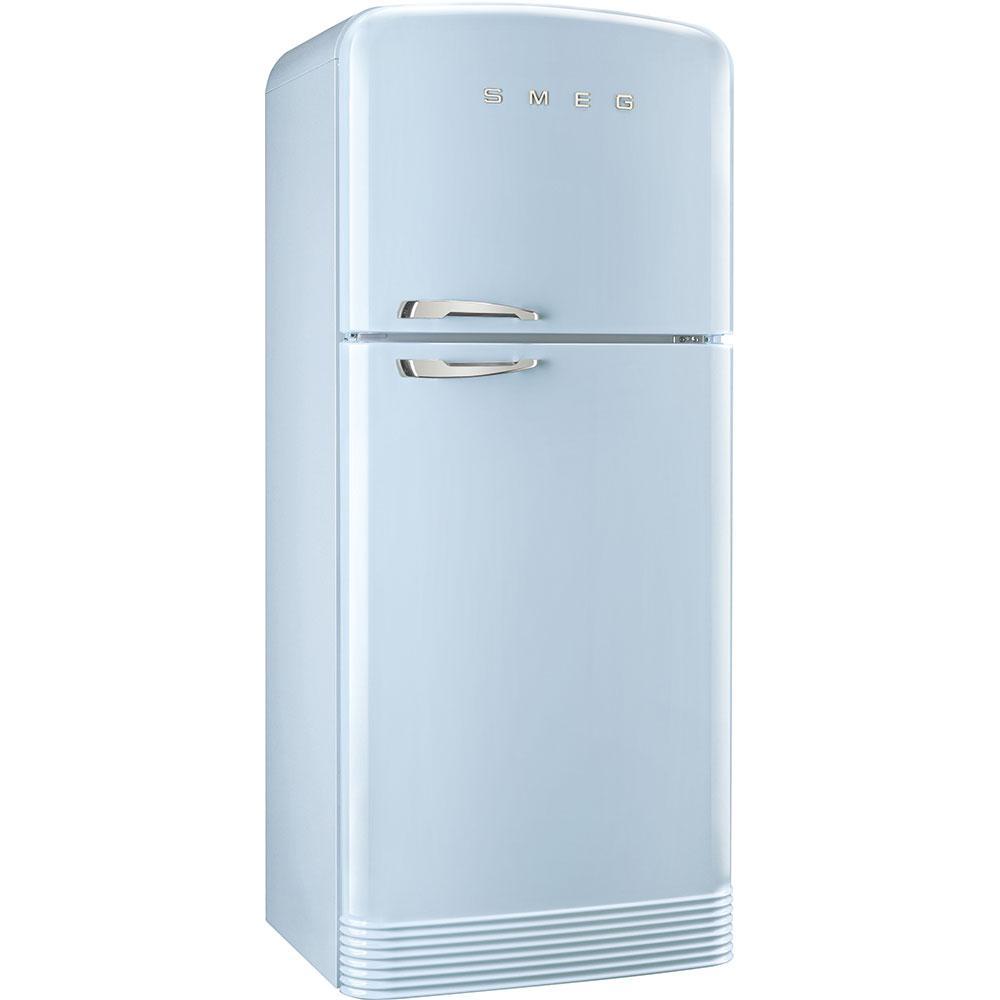 Отдельностоящий двухдверный холодильник, стиль 50-х годов Smeg FAB50RPB голубой