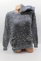 Женский модный вязаный свитер  с шарфом