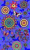 Ткань полотенечная вафельная набивная арт.143526 (ЗИН) 1763-1 фиол. 40СМ