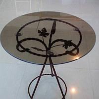 Журнальный столик круглый коричневый