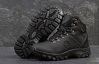 Мужские ботинки Timberland. Кожа Мех 100% Черные