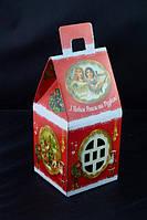 Сладкий новогодний подарок из конфет Домик Ретро, вес 300 гр