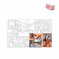 Полотно на картоне с контуром Вермут у маковій квітці 25*40см ROSA Talent