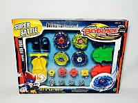 Игра для детей и взрослых Игра запускалка Beyblade/ Бейблейд P-2887 -метал., запускалки 4шт, запускн.механ