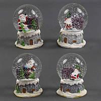 """Сувенир - """"Новогодний шар со снегом"""" С 22407 (48) 4 вида, 1шт в коробке"""