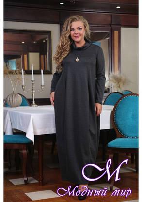 Женское длинное свободное платье большого размера (р. 48-90) арт. Августина, фото 2