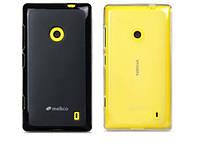Чехол для Nokia Lumia 520 - Melkco Poly Jacket TPU (пленка в комплекте)