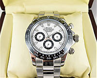 Часы Rolex Daytona Ceramic 40mm silver/white. Класс: ELITE.