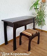 """Туалетный столик с пуфиком """"Для королевы"""" (массив - сосна, ольха, береза, дуб)."""