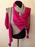 Теплый шарф в полоску (цв 04)