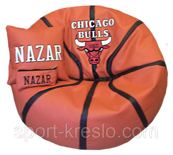 Бескаркасная мебель кресло-мяч пуф мешок баскетбольный