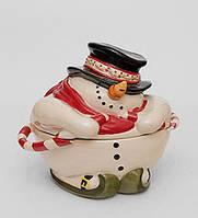 "Фарфоровая конфетница ""Снеговик"" (Pavone) BS-513, фото 1"