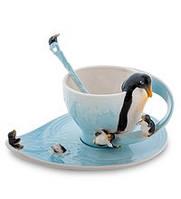 Фарфоровая чайная пара Пингвины (Pavone) FM- 01/29
