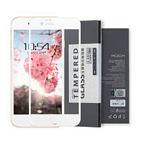 Защитное стекло 2.5Dдля Iphone 7 Plus/8 Plus RockБелый, фото 1
