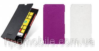 Чехол для Nokia Lumia 620 - Melkco Book leather case, кожаный, разные цвета