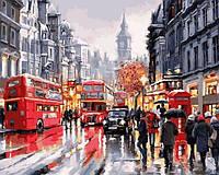 Картины по номерам 40×50 см. Уайтхолл - улица в центре Лондона Художник Ричард Макнейл