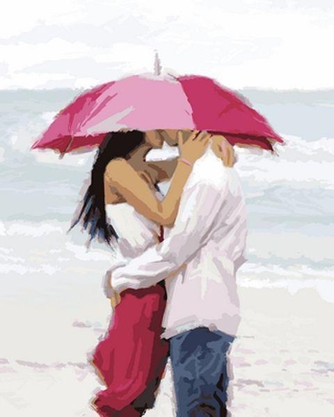 Раскраски для взрослых 40×50 см. Поцелуй на пляже Художник Ричард Макнейл