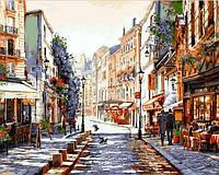 Картины по номерам 40×50 см. Монмартр Париж Художник Ричард Макнейл