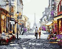 Раскраски для взрослых 40×50 см. Прогулка по Парижу Художник Ричард Макнейл