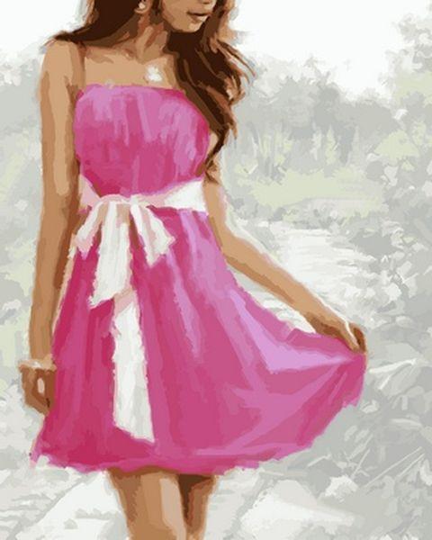 Раскраска по цифрам 40×50 см. Летнее платье Художник Ричард Макнейл