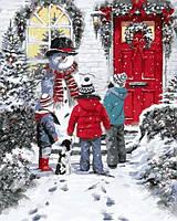 Картины по номерам 40×50 см. Снеговик Художник Ричард Макнейл