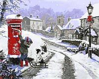 Картины по номерам 40×50 см. Письмо Деду Морозу  Художник Ричард Макнейл