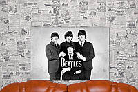 The Beatles. Битлз. 40х60 см. Картина на холсте.