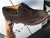 Мужские классические кроссовки из натуральной кожи с узорами Roberto Serpentini. Демисезонные . Осень-Весна.