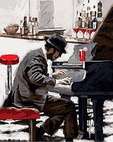 Картины по номерам 40×50 см. Пианист Художник Ричард Макнейл