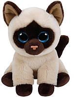 "Мягкая игрушка глазастик антистрес TY Beanie Babies 42129 Сіамська кішка ""Jaden"" 15см"