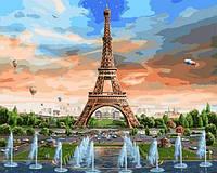 Рисование по номерам 40×50 см. Эйфелева башня и ее фонтаны Художник Адриан Честерман