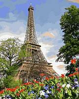 Раскраски для взрослых 40×50 см. Эйфелева башня весной Художник Адриан Честерман, фото 1