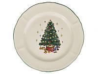 """Тарелка """"Новогодняя елка"""" 27 см 910-130. Новогодняя посуда"""