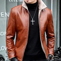 Мужская кожаная куртка. Модель 61663