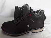 Кожаные мужские зимние ботинки Ecco